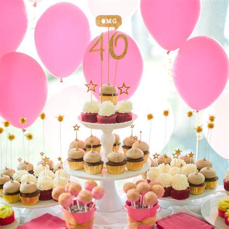 Surprise 40th Birthday Party Ideas: A Pink and Gold Birthday