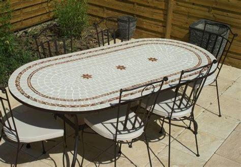 Table De Jardin En Mosaique