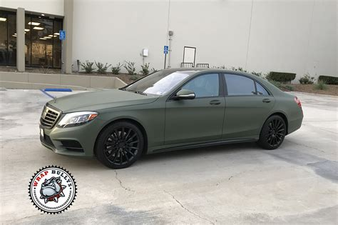 green mercedes mercedes wrapped in matte green wrap bullys