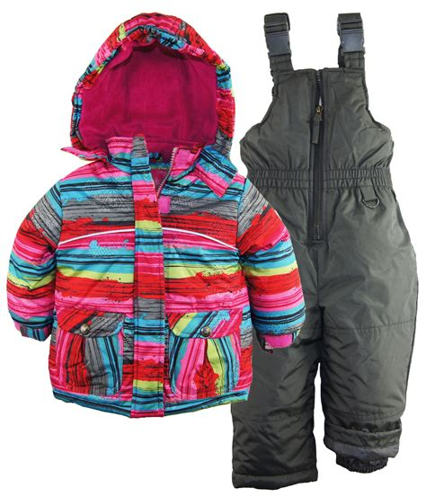 Rugged Snowsuit by Rugged Baby Snowflake Stripes Snowboard 2pc