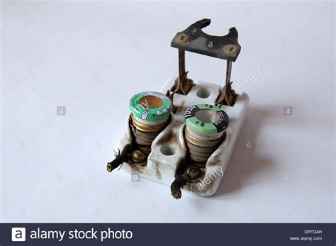 1950s Vintage Ceramic Fuse Box Electrical Circuit Breaker