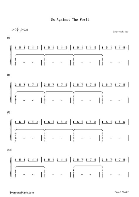 coldplay us against the world chords us against the world coldplay numbered musical notation