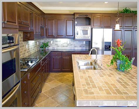 Tile Kitchen Island Countertop Kitchen Island Countertop Overhang Support Home Design Ideas