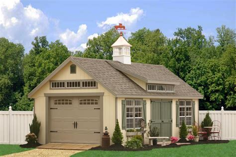 Shed Kits Nj by One Car Prefab Car Garages 100 S Of Choices Amish Built