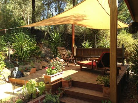 backyard shade ideas shade cloth sail up over the deck outdoor living