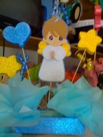 centros para mesa de angelitos angelito bautizo nino fiestaideas ideas for baptism
