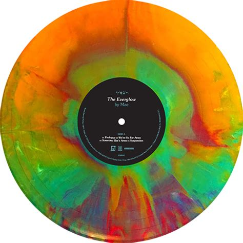 colored vinyl records mae the everglow colored vinyl