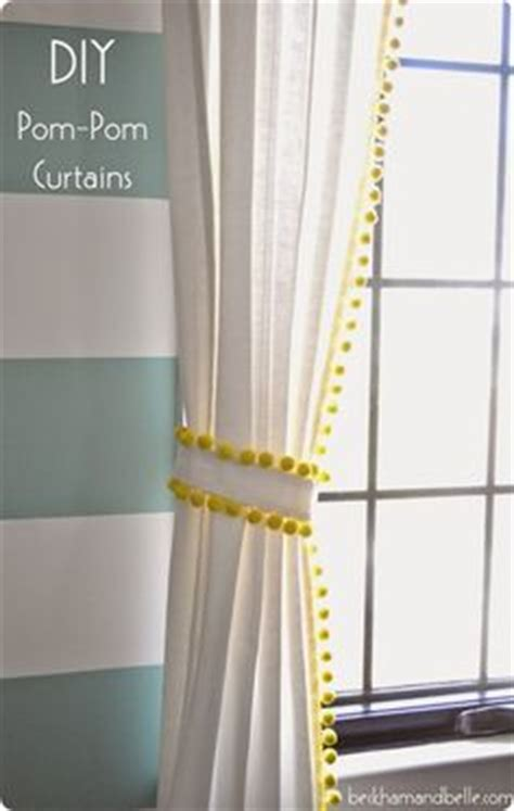 White Curtains With Pom Poms Decorating 1000 Ideas About Pom Pom Curtains On Curtains Cheap Curtain Rods And Cheap Curtains