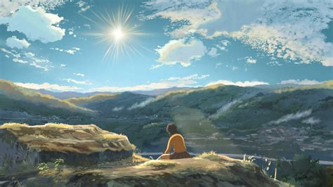 wallpaper hd anime landscape anime landscape hoshi wo ou kodomo wallpapers hd