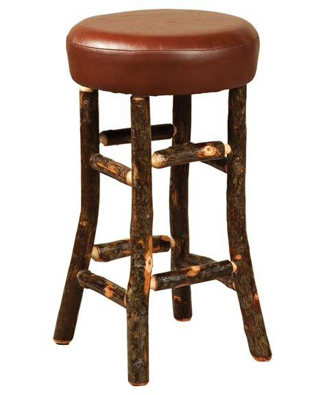 Hickory Wood Bar Stools by Hickory Hoosier Bar Stool Amish Direct Furniture