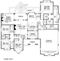 House Plans With 3 Master Suites Office Nook Mbr House Plans Pinterest