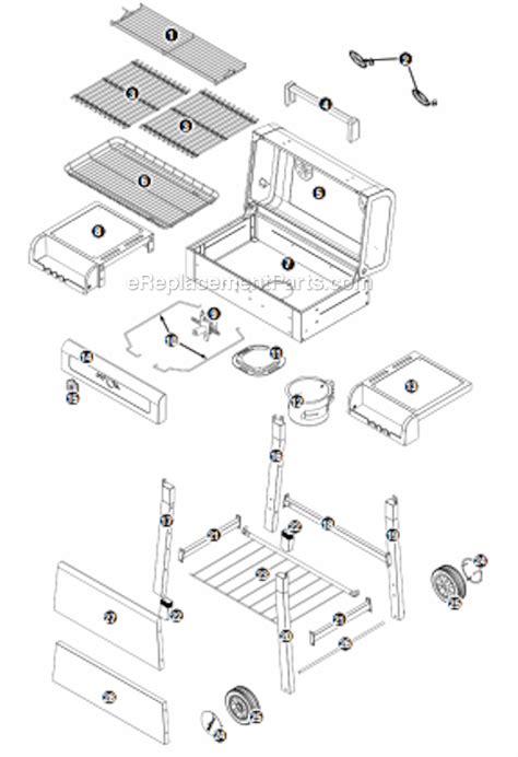 Backyard Grill Parts List Uniflame Cbc1042we C Parts List And Diagram