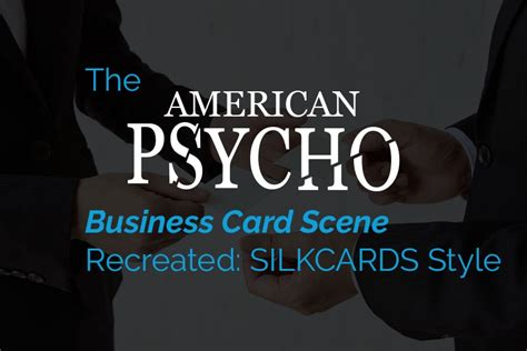 American Psycho Comparing Business Cards