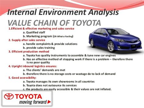 Strategic Management Of Toyota Company Toyota Value Chain Analysis