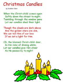 poem christmas candles by evaleen stein