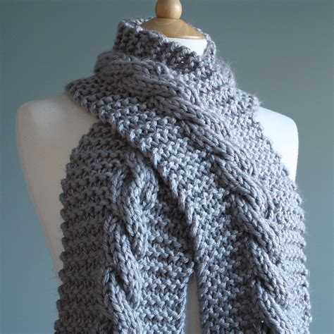 knitting patterns galore scarves knitting patterns galore super chunky cable scarf