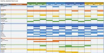 6 Month Marketing Plan Template by Marketing Calendar Template Cyberuse