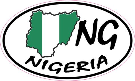 Ng Stickers 5in x 3in oval ng nigeria sticker vinyl car truck bumper