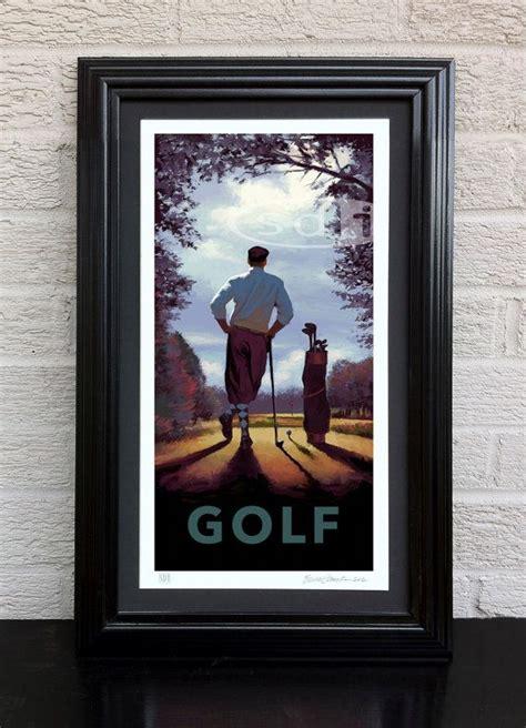 retro golf prints golf decor set of 4 prints golf decor idea 1000 images about vintage golf decor on pinterest