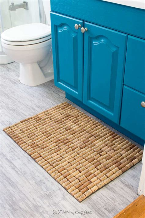 Wine Cork Doormat by How To Make A Diy Wine Cork Bath Mat Sustain My Craft Habit