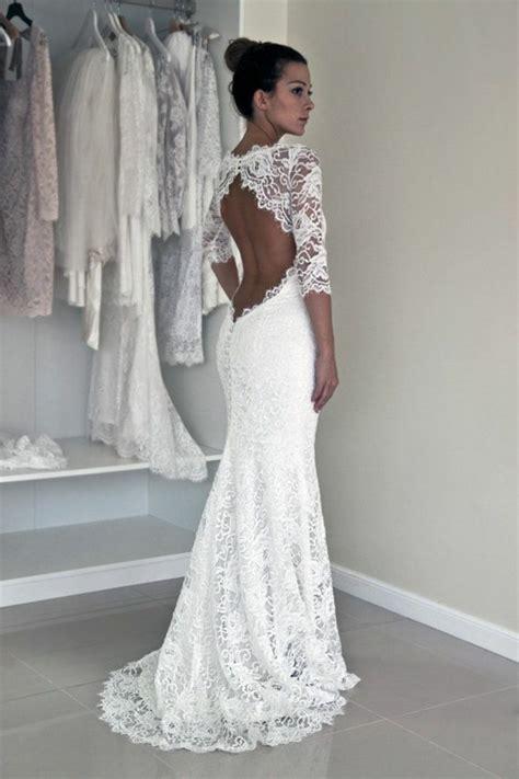 Hochzeitskleid Aus Spitze r 252 ckenfreie hochzeitskleider liegen voll im trend