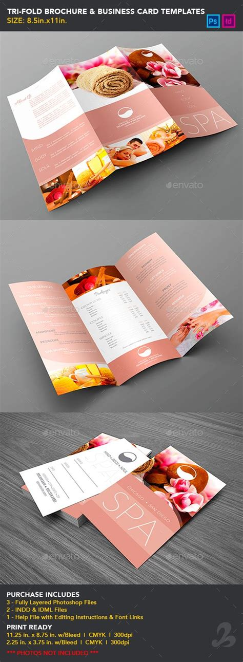 tri fold business card template tri fold brochure business card templates spa cards