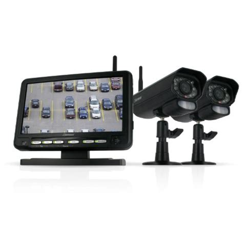 Monitor Recording defender digital wireless dvr security system with 7 inch lcd monitor sd card recording and 2