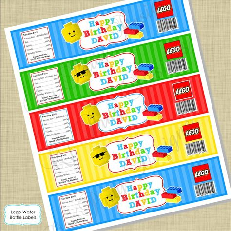 printable lego labels diy printable lego inspired water bottle labels digital