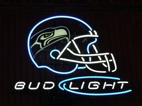bud light nfl neon sign neon beer sign seattle seahawks nfl football bud