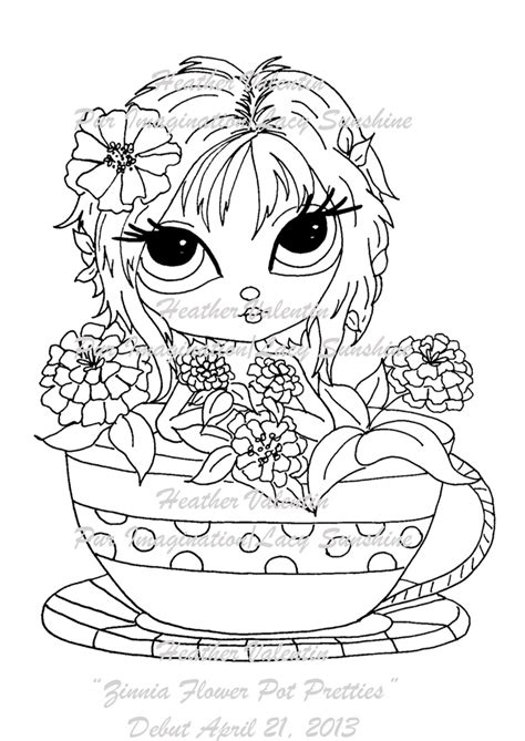 my besties flower petal pots coloring book books 17 best images about lacy digi sts on