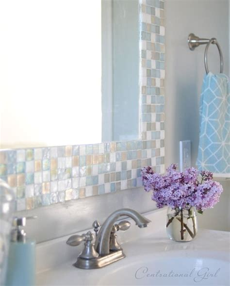 bathroom mosaic mirror 1000 images about mirror border ideas on pinterest