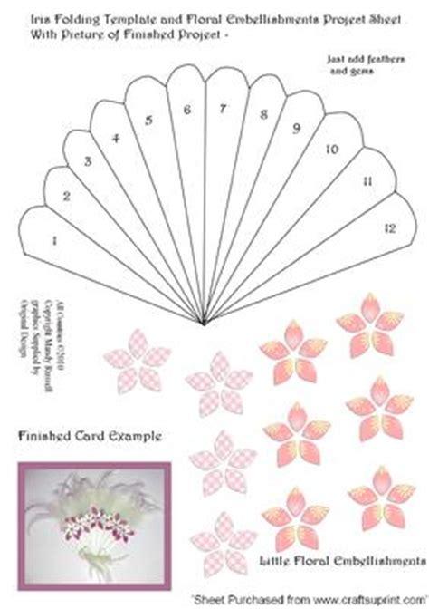 card fan template iris folding fan project cup58559 593