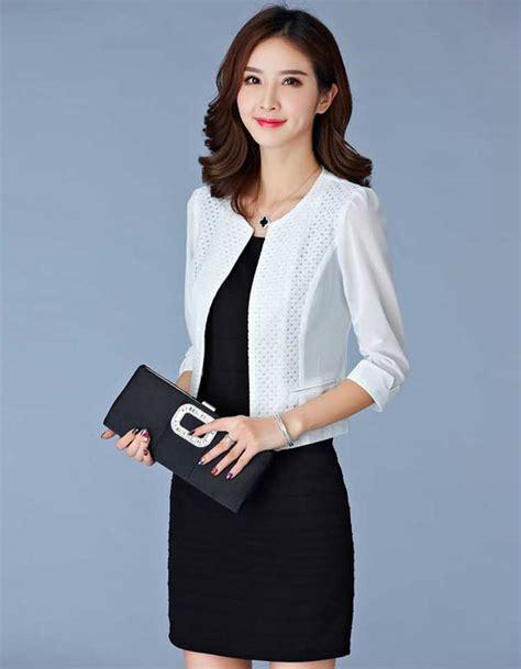 Blazer Untuk Kerja blazer wanita terkini untuk kerja warna putih dm160