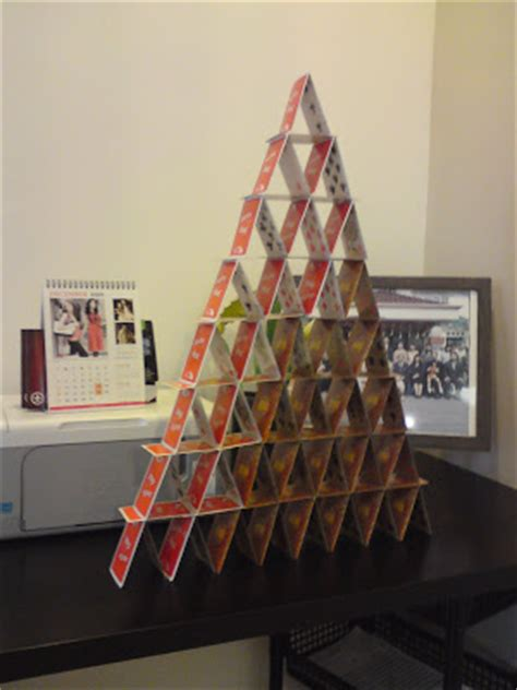 how to make card tower feel the card towers