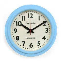 clock telectric clock eggshell blue howkapow