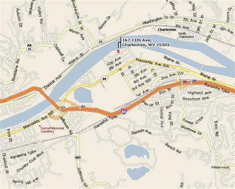 charleston wv map ols south charleston directions