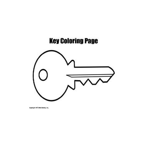 key coloring page printable key clipart best