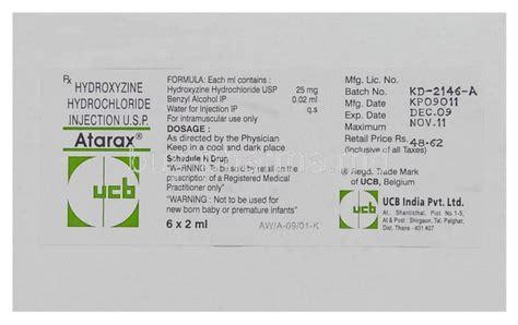 Hydroxyzine Detox by Atarax Hydroxyzine Injection Buy Atarax Hydroxyzine