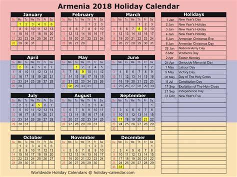 Armenia Calend 2018 Armenia 2018 2019 Calendar