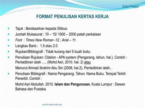 format apa laman web ppt ctu231 asas perakaunan islam powerpoint presentation