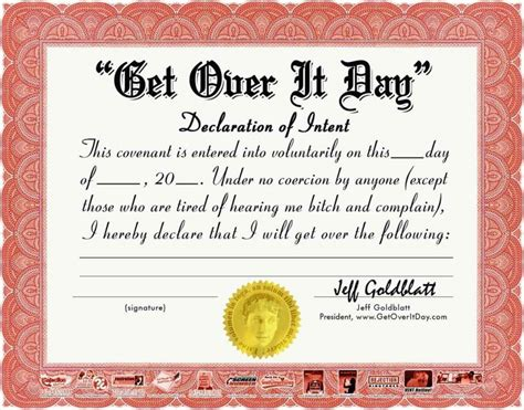 silly certificates awards templates free printable employee award certificates