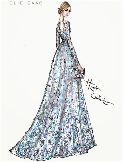 fashion illustration elie saab hayden williams fashion illustrations wearing