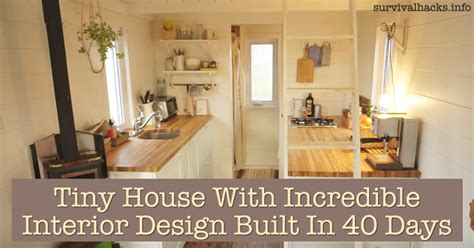 very small house interior design tiny house with incredible interior design built in 40 days off grid