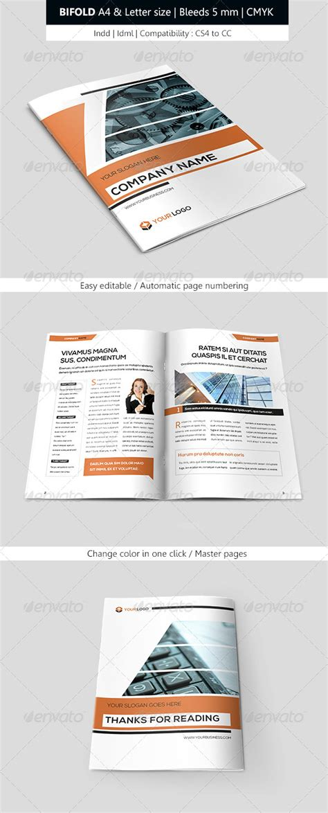 graphicriver brochure template print template graphicriver bifold business brochure
