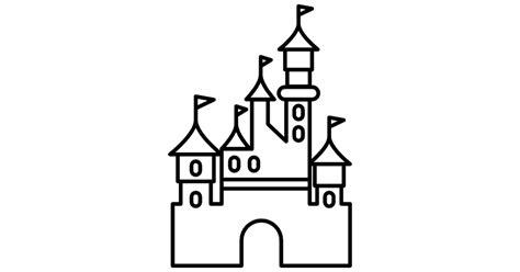 Simple Home Plans To Build disneyland paris castle free buildings icons