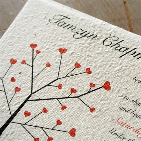 How To Make Seeded Paper - seeded paper wedding invitations flamingo