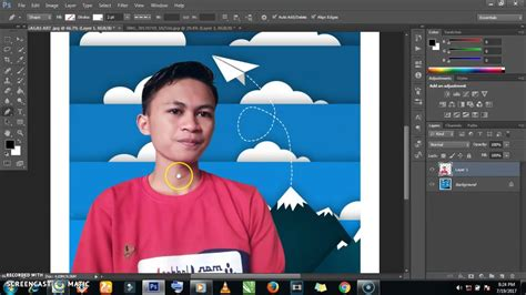 cara edit foto di photoshop cs6 cara editing foto kekinian effect garis putus putus