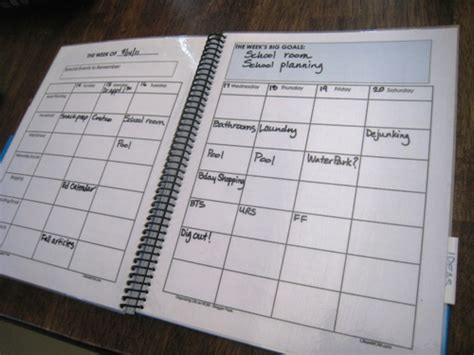 build a planner making a household notebook work for you the art of simple