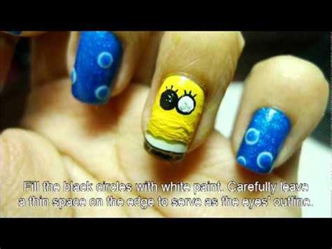 tutorial nail art kartun spongebob nail art tutorial youtube