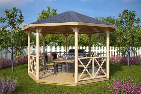 gazebo house large wooden gazebo lotte xl 15m 178 4 5 x 4 5 m summer